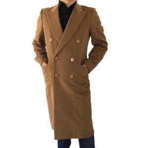 Canali Men's Wool Camel Color Peacoat Jacket